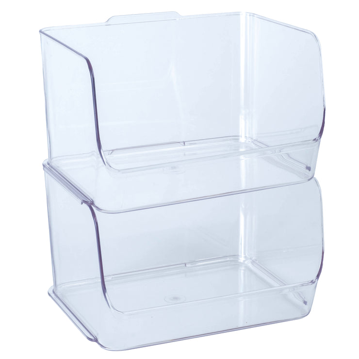 Clear Stacking Bin Small
