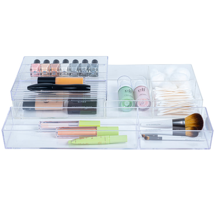 Clear Cosmetics Stackable Top - Bottles & Brushes