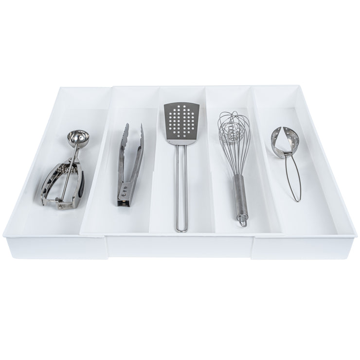 White Expandable Drawer Organizer - Utensils