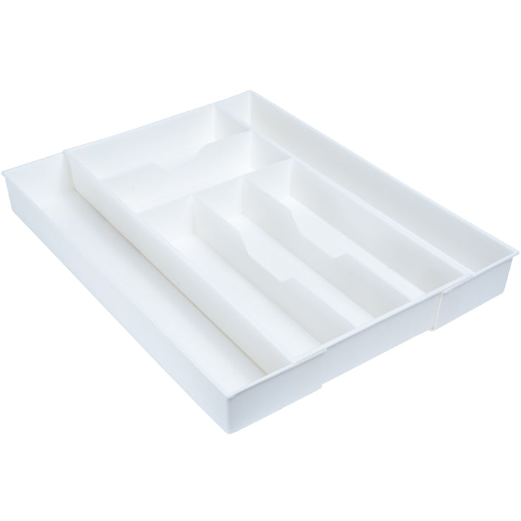 White Expandable Drawer Organizer - Cutlery