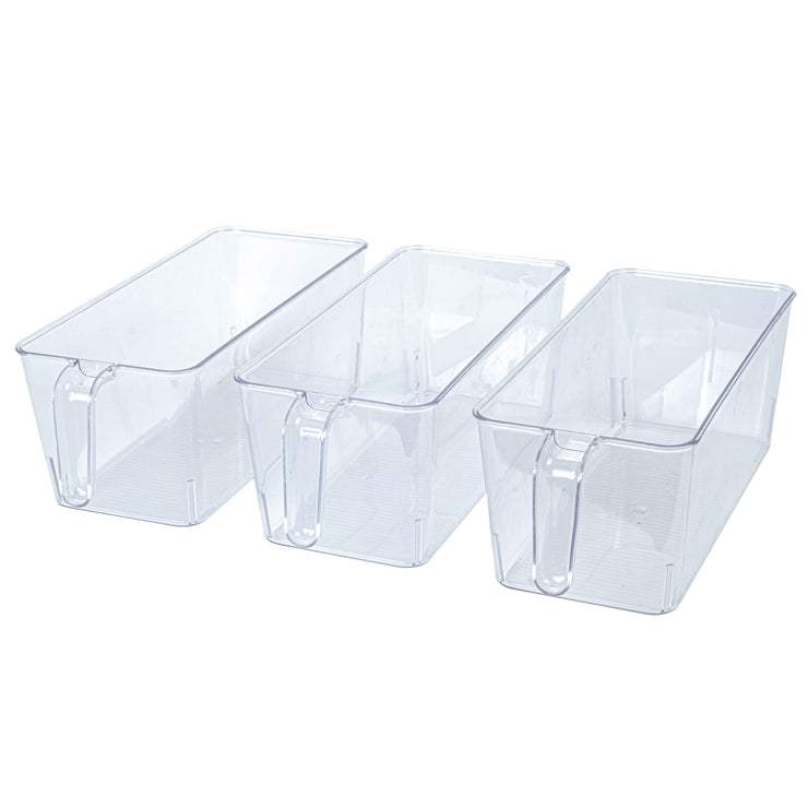 Clear Bin with Handle Medium