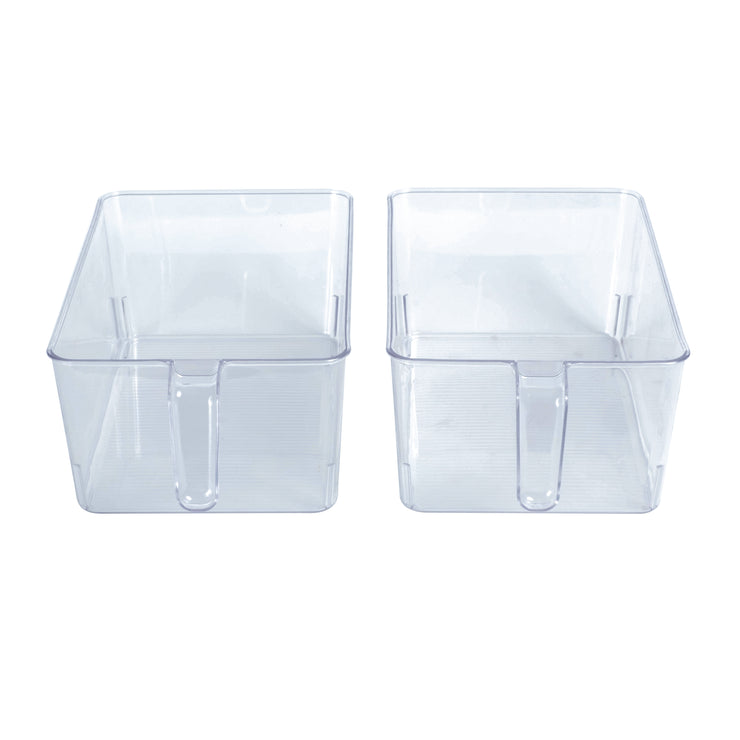 Clear Bin with Handle Large