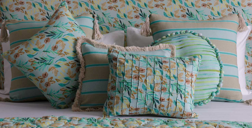 Calming Sage Green Curated Full bedding ensemble set of 12 | LUXURY