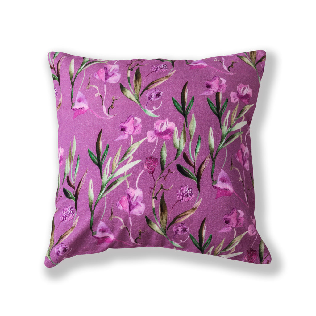 "Floral Dreams Cushion Cover-Purple-109 16""x16"""