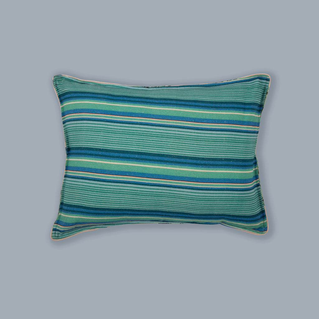 "Aqua Stripes - 12""X16"" Accent Cushion Cover 121"