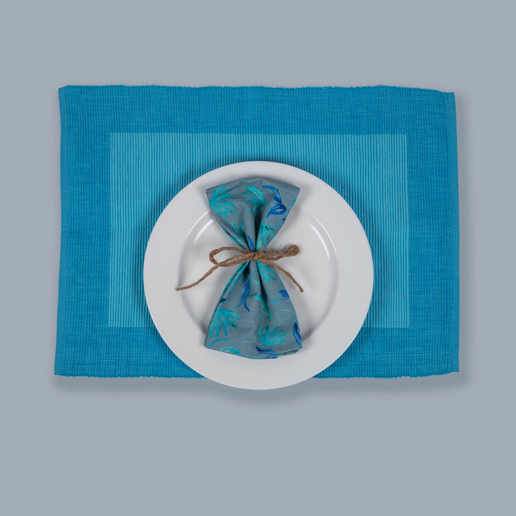 Tableware Set Mats and Napkins 124 Blue