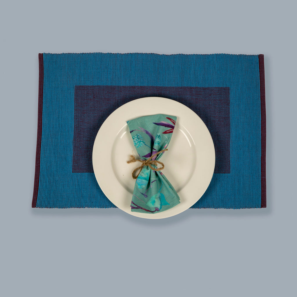 Tableware Set Mats and Napkins 109 Blue