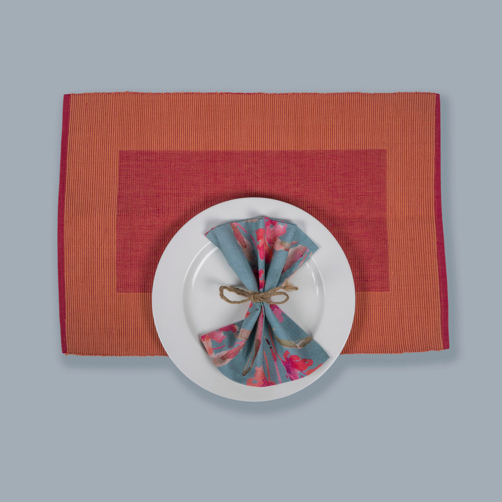 Tableware Set Mats and Napkins 118 Pink Grey