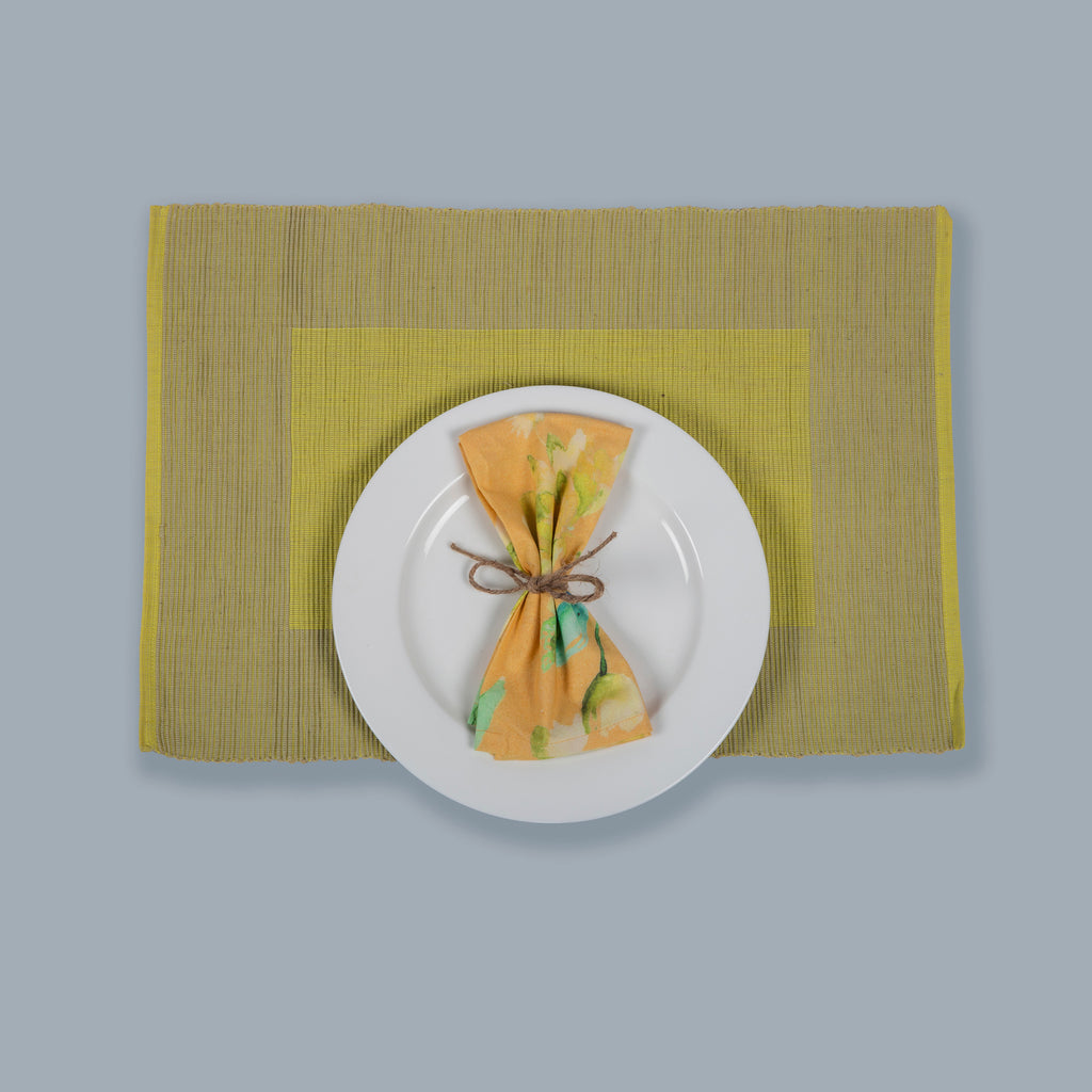 Tableware Set Mats and Napkins 125 Yellow