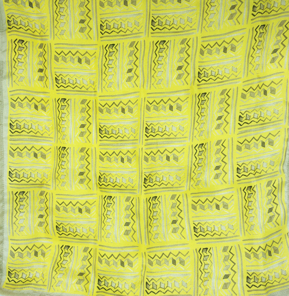 Pure Silk Pocket Square - Colour Theory - Lime