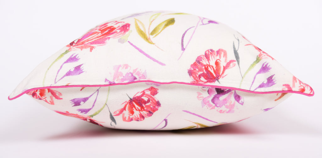 Floral Dreams / Red on White 101 / Printed Cushion Cover
