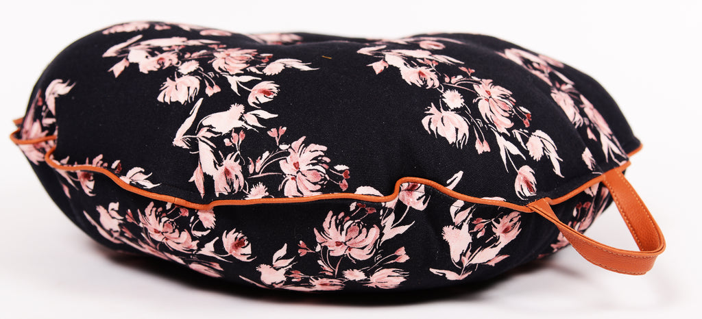 Multi purpose Floor Cushion/ Black 102/ Round