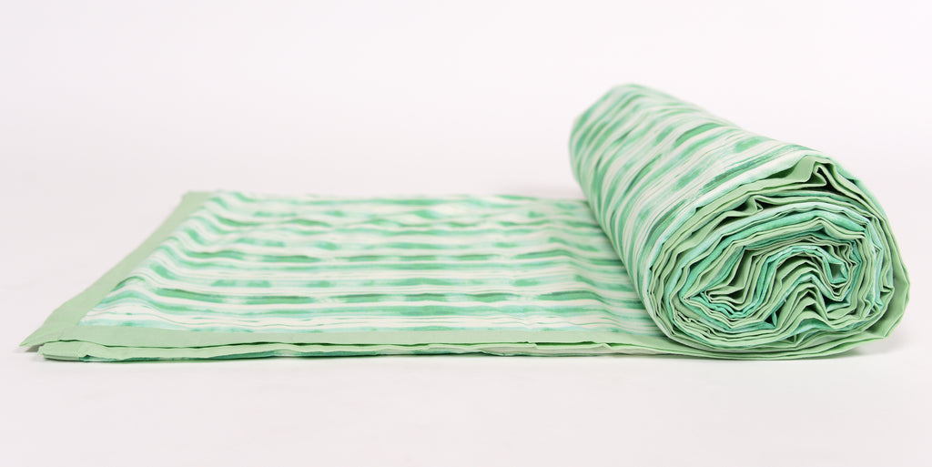 Duvet/Dohar/Stripes of line/ 302 Green
