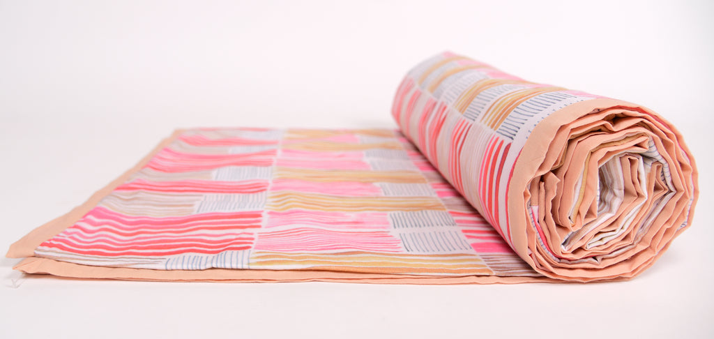 Duvet/ Dohar/ Stripes of lines/ 305 Red Pink