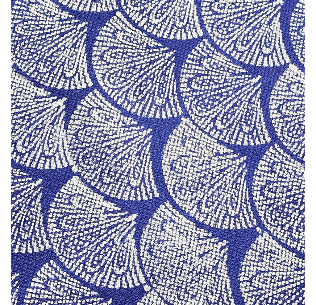 Dhurrie Rug - Hand Block printed in Blue 2ftx3ft
