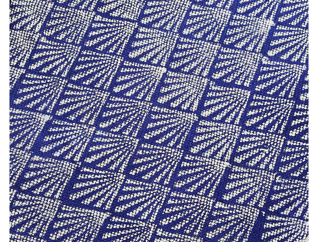Dhurrie Rug - Hand Block printed in Deep Blue 2ftx3ft