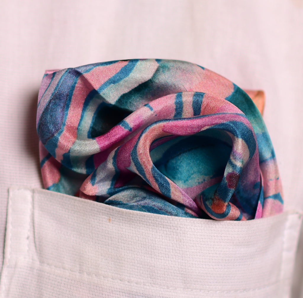 Pure Silk Pocket Square-Colour Theory-Multi