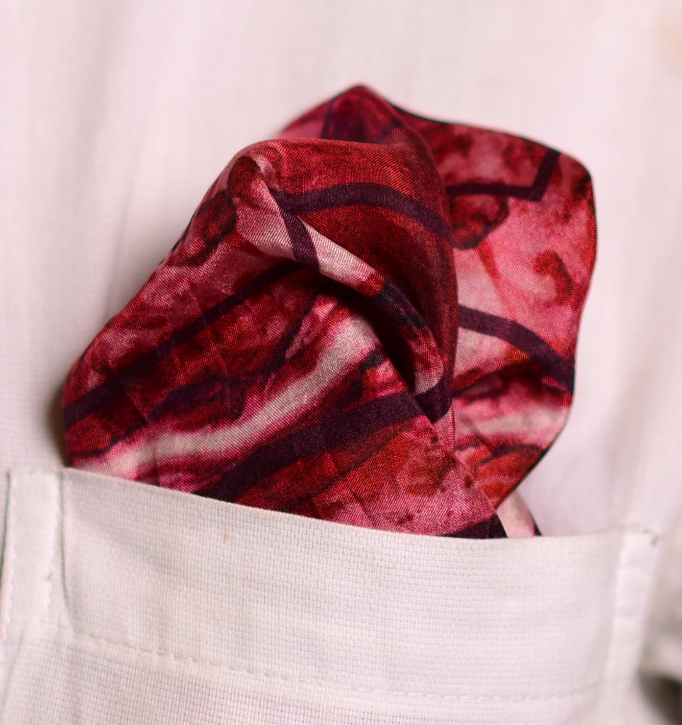 Pure Silk Pocket Square-Colour Theory-Red