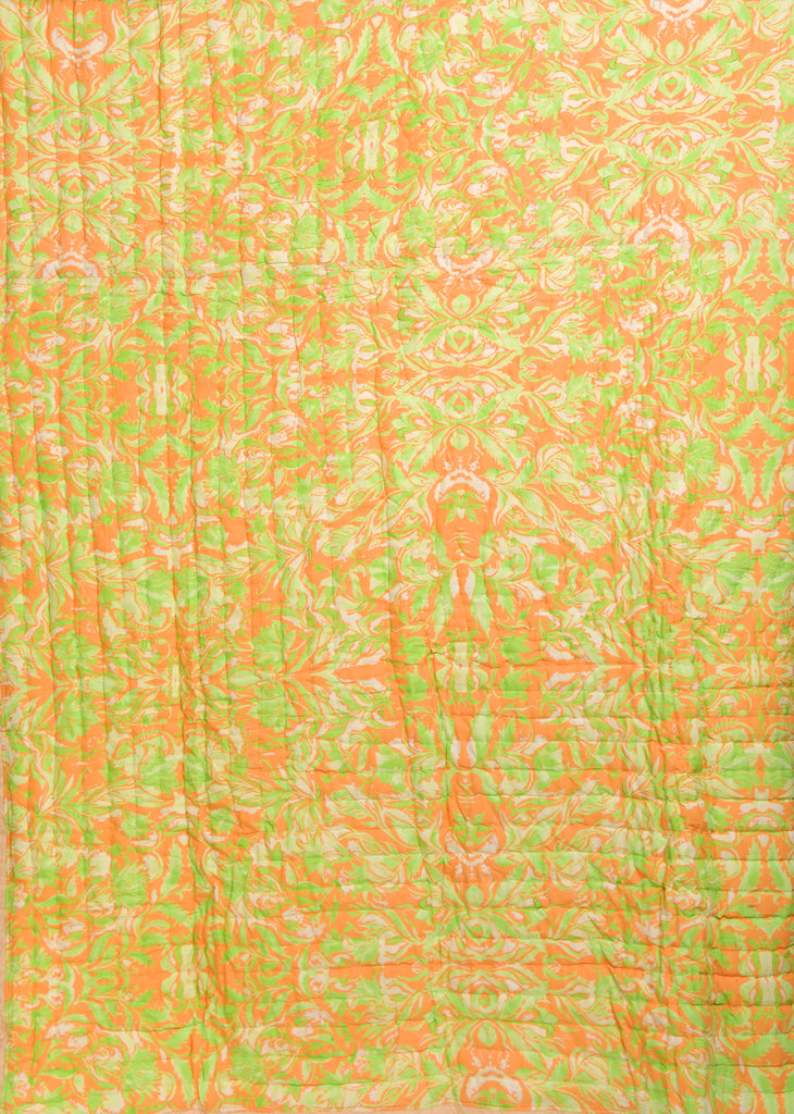 Floral Dreams Cotton Quilt 108 Yellow Green