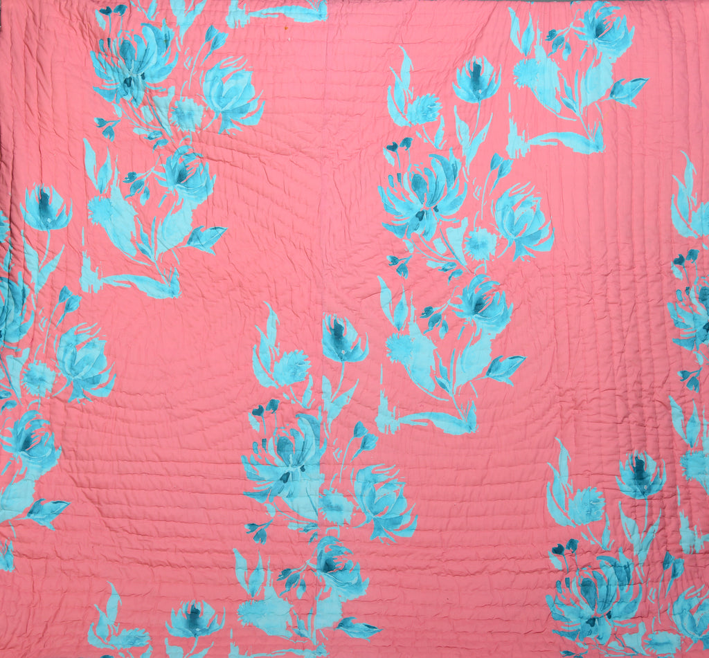 Floral Cotton Quilt-102 PEACH