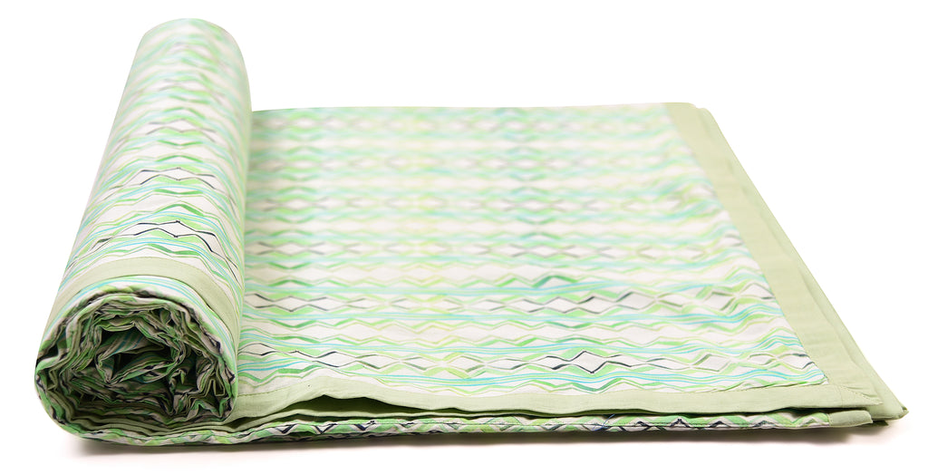 Duvet/Dohar/Stripes of lines/ 309 Fresh Green