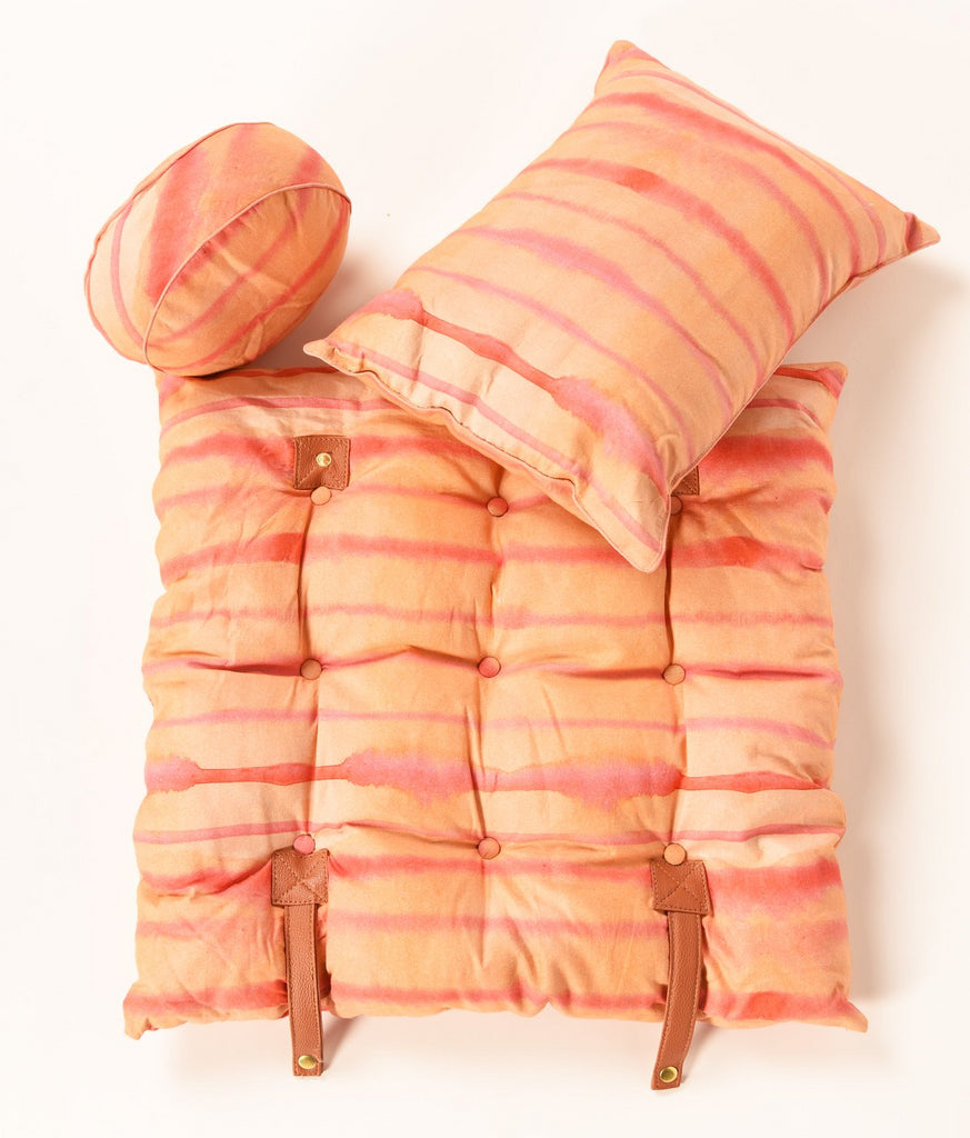 Travel Cushion-Set Of Three-Peach 311