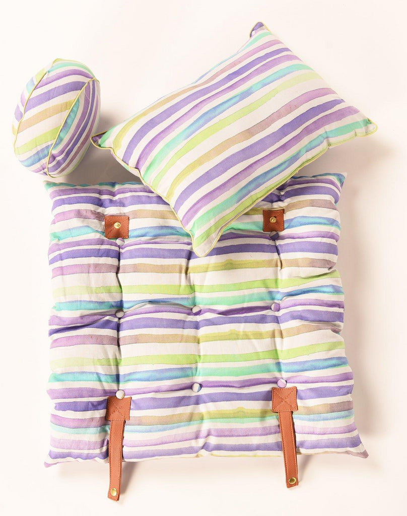 Travel Cushion-Set Of Three-308 Multi