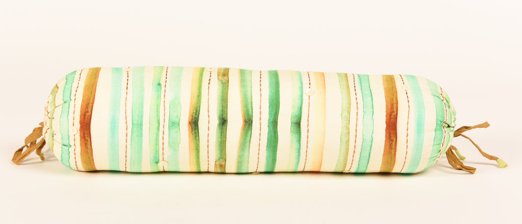 Stripes Bolster-Aqua Green 312