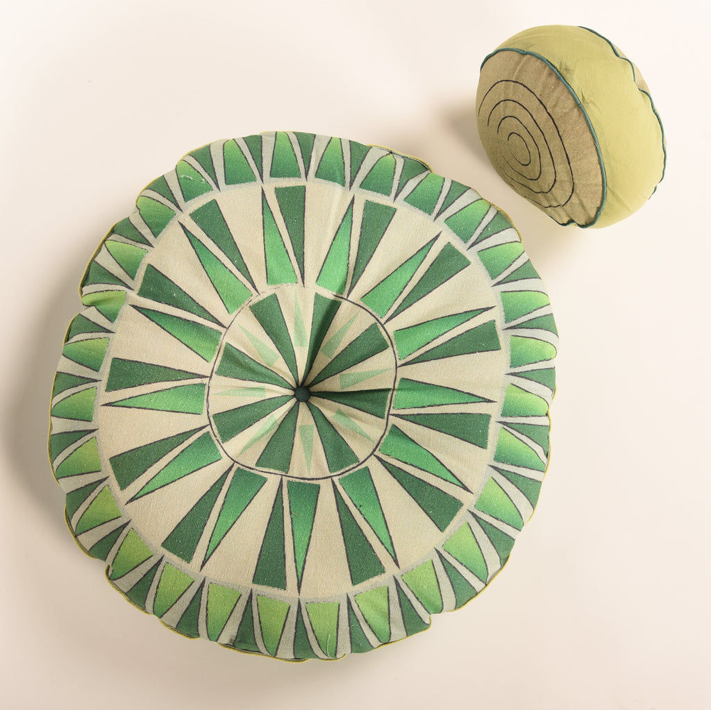 Multi purpose Floor Cushion-GREEN