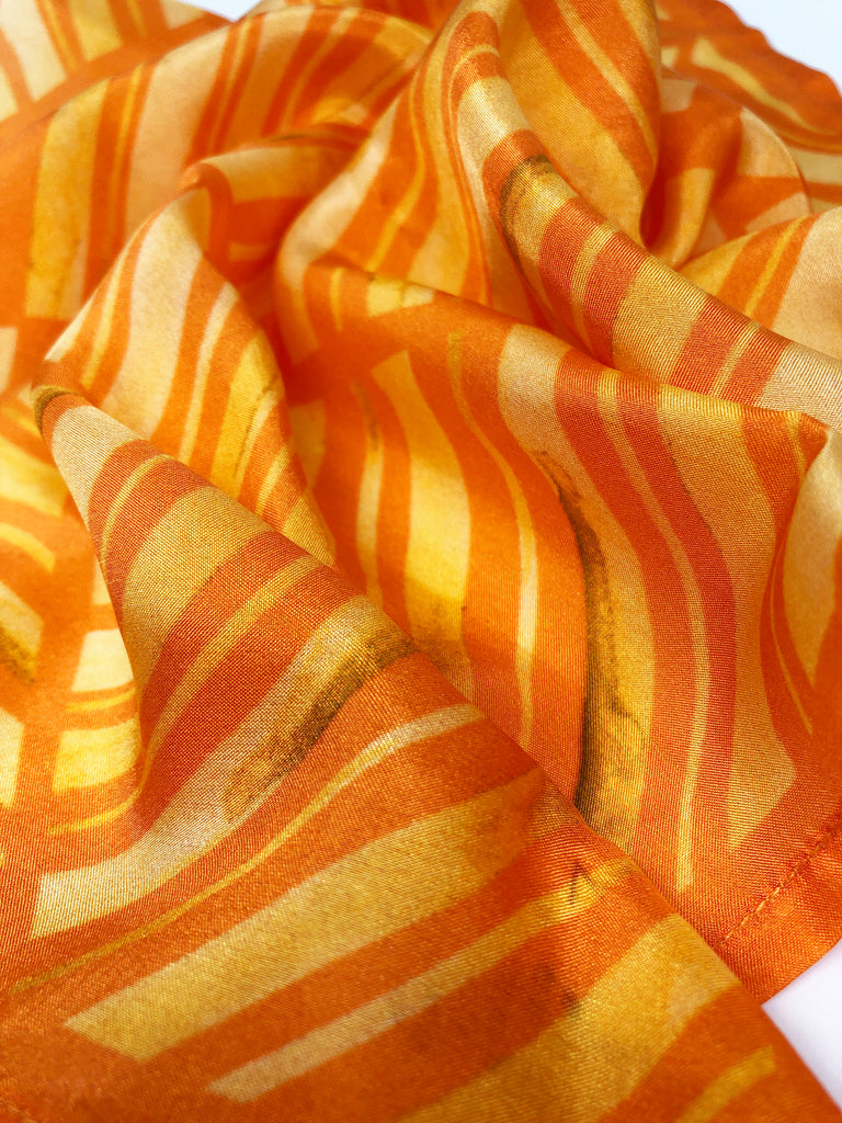 Pure Silk Pocket Square - Colour Theory - Orange