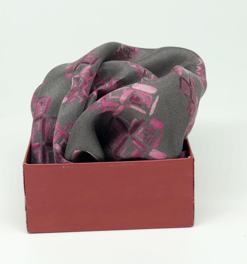 Pure Silk Pocket Square - Colour Theory - Rose