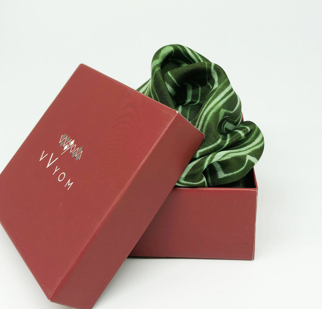 Pure Silk Pocket Square - Colour Theory - Sap Green