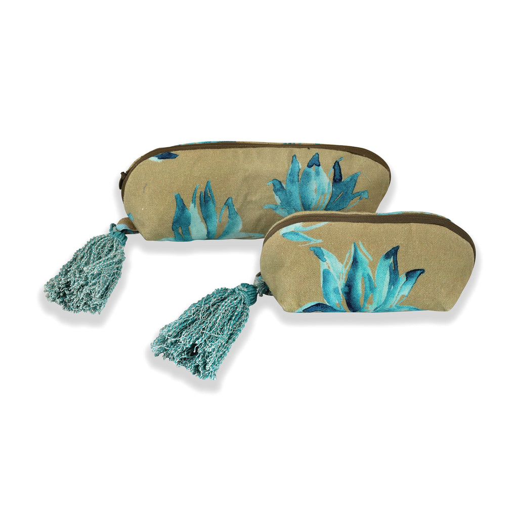 Floral Dreams Multy-utility pouches 119 Ochre Aqua