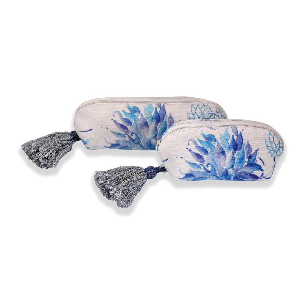 Floral Dreams Multy-utility pouches 120 White Blue