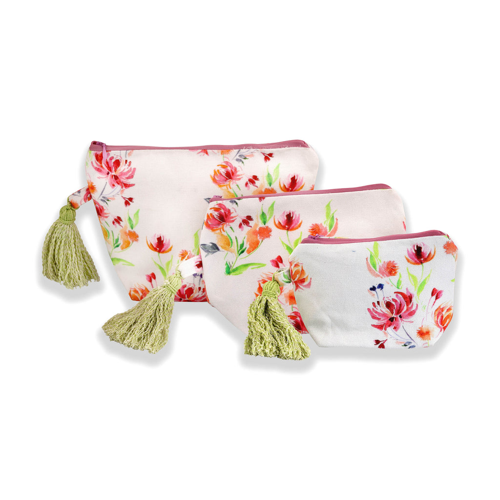 Floral Dreams Multy-utility pouches 102 White Red