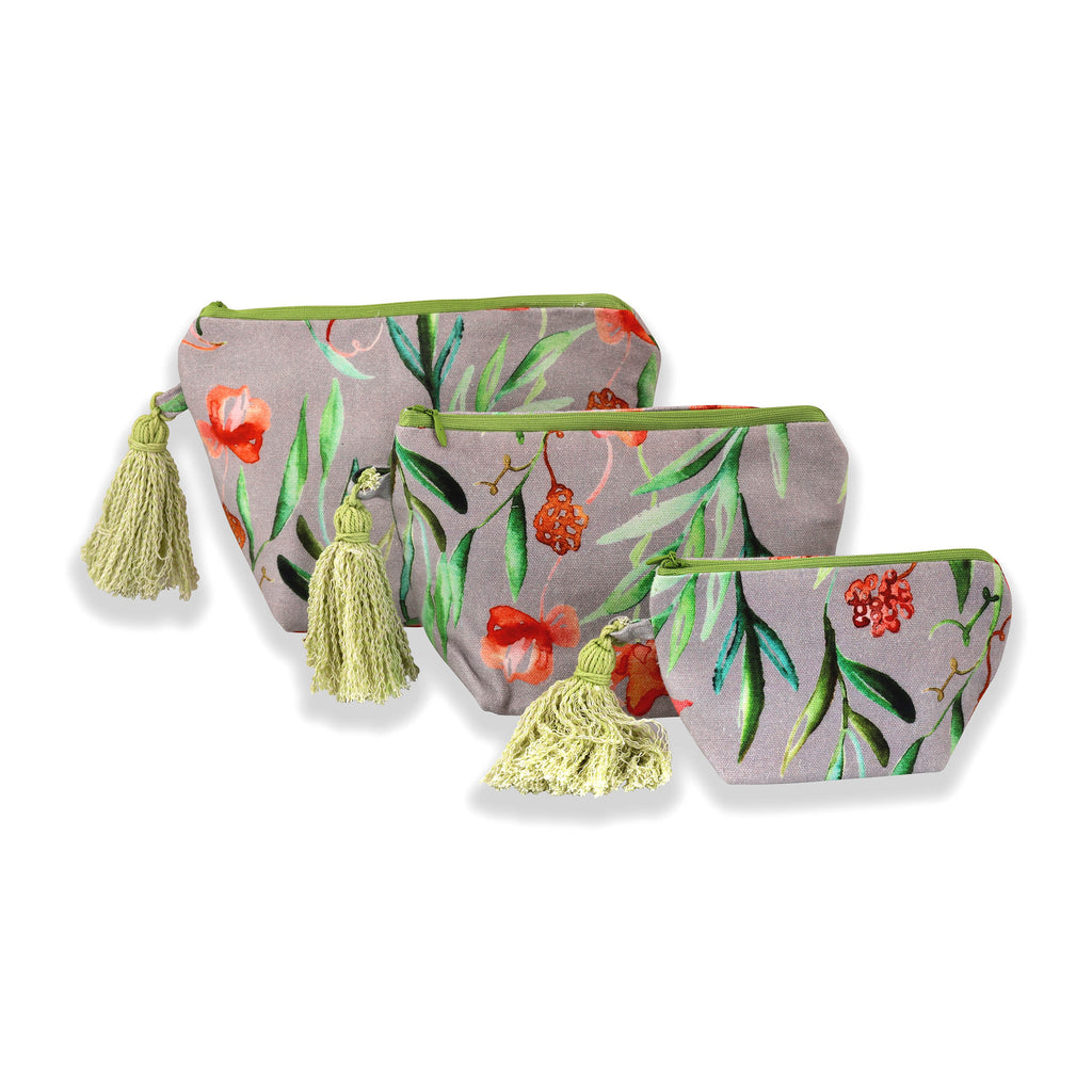 Floral Dreams Multy-utility pouches 109 Grey Red