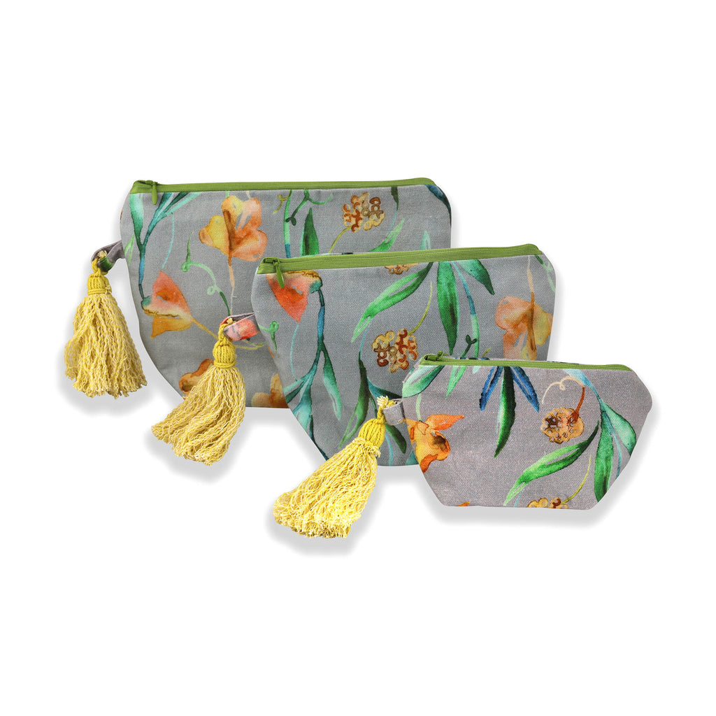 Floral Dreams Multy-utility pouches 109 Grey Yellow