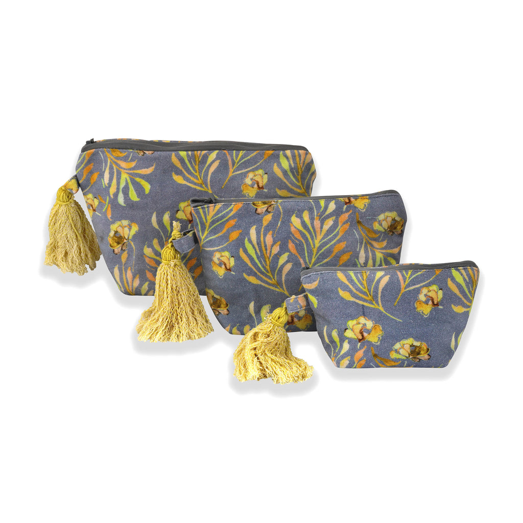 Floral Dreams Multy-utility pouches 123 Grey Yellow