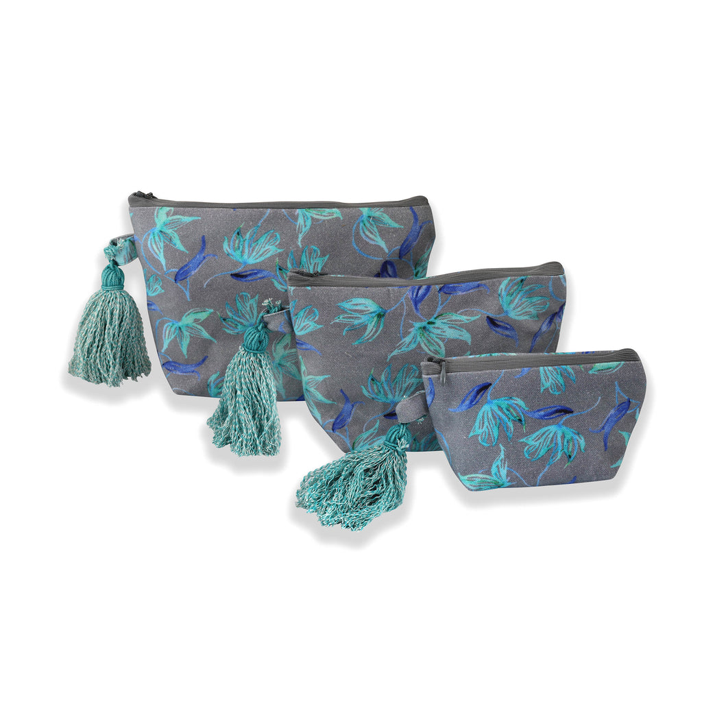 Floral Dreams Multy-utility pouches 124 Grey Aqua