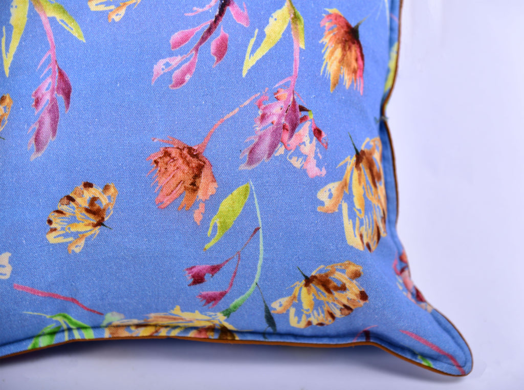 Floral Dreams / Ocean Blue 101 / Printed Cushion Cover