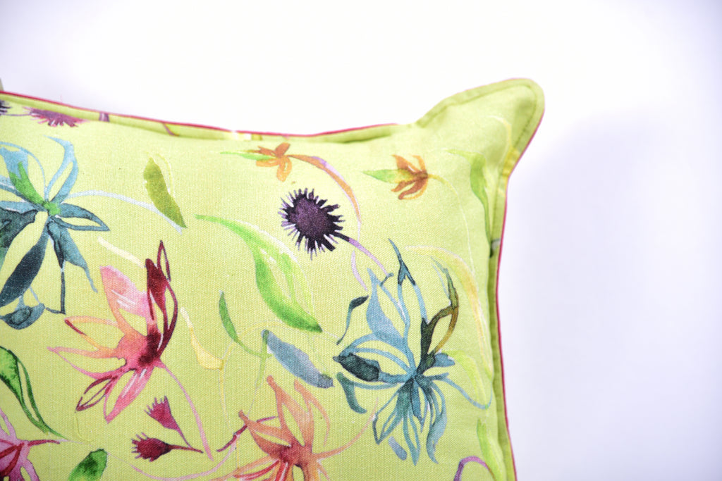 Floral Dreams / Lime 103 / Cushion Cover