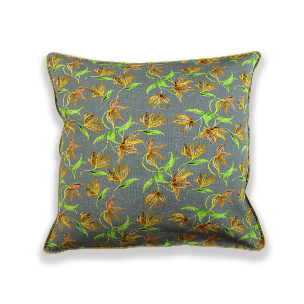 Floral Dreams / 124 Grey Yellow / Cushion Cover