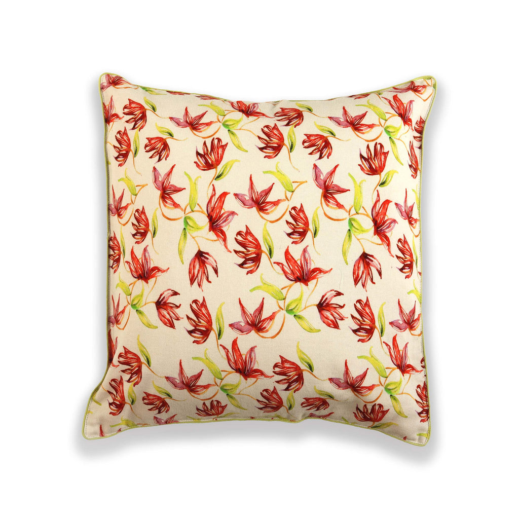 Floral Dreams / 124 White Red / Cushion Cover