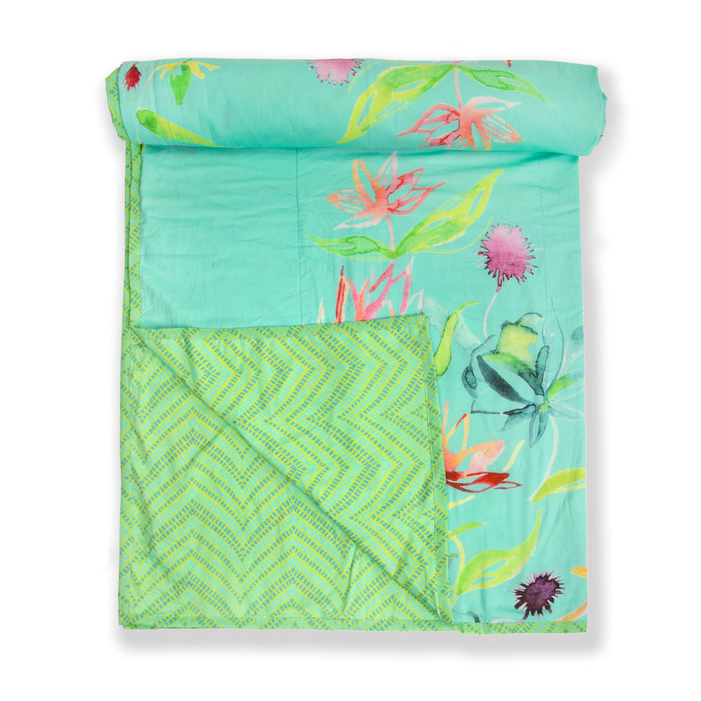 Cotton Duvet / Dohar  102 Aqua