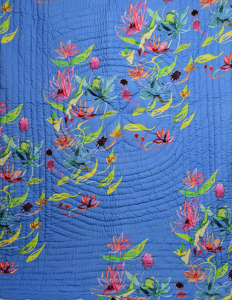Floral Dreams Cotton Quilt 103 Fresh Blue