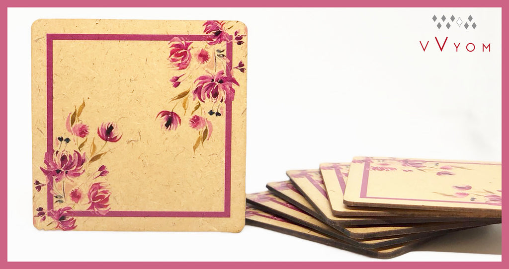 Raw Rustic / Table Coaster 102 Pink