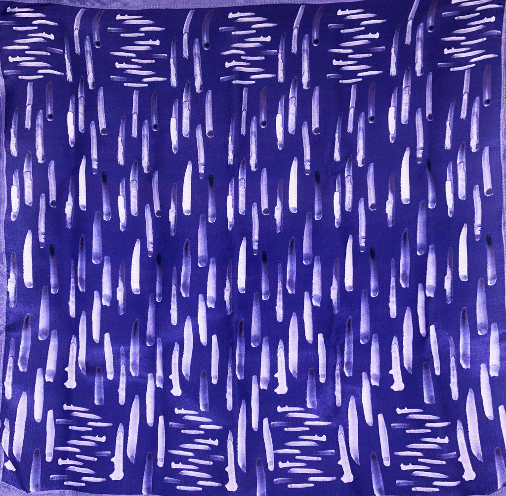 Pure Silk Pocket Square - Colour Theory - Violet
