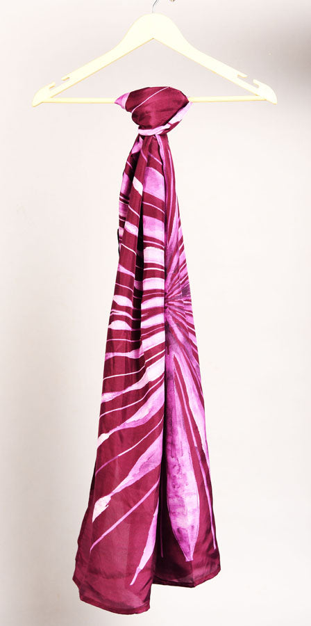 Pure Silk Scarf-Colour Story- Imperial Purple