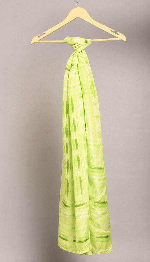 Pure Silk Scarf- Colour Story -Yellow Green