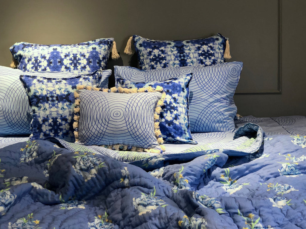 Lapis Blue 9 PC Bedding Set